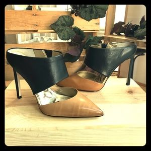 Sam Edelman Shoes - Sam Edelman Monroe Leather Mule Camel Black NWOT
